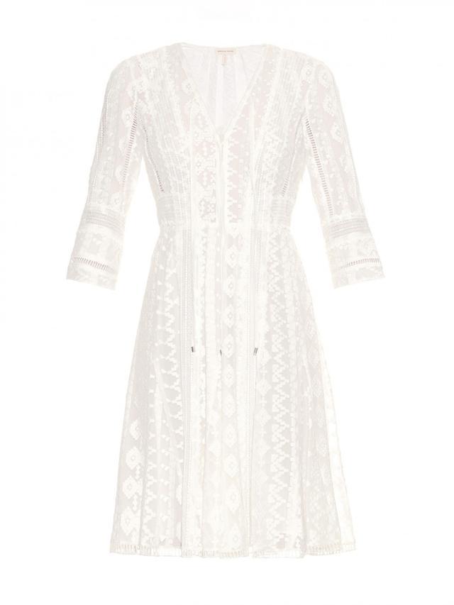 Rebecca Taylor Embroidered Silk-Chiffon Dress