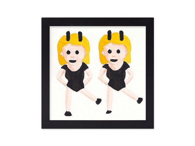 Furbish Studio Twinning Emoji Framed Art