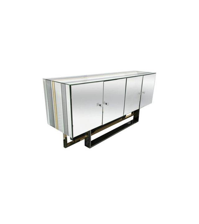 1st Dibs Mid-Century Modern Mirrored Console Cabinet