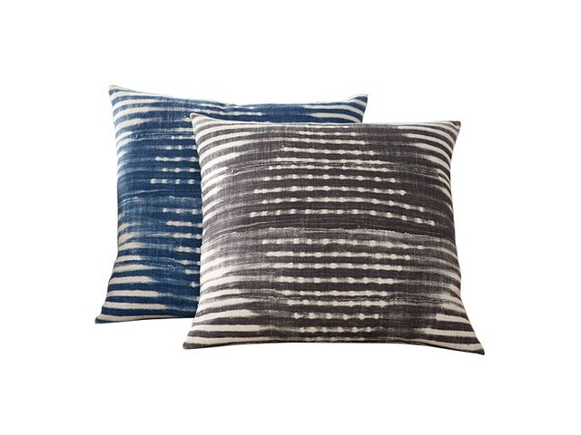 Pottery Barn Diamond Shibori Print Pillow Cover
