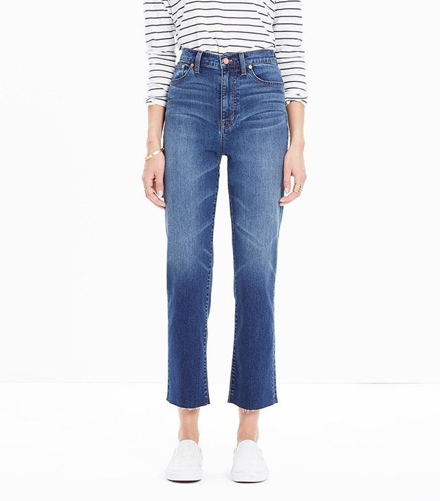 "Madewell 11"" High Riser Crop Flares"