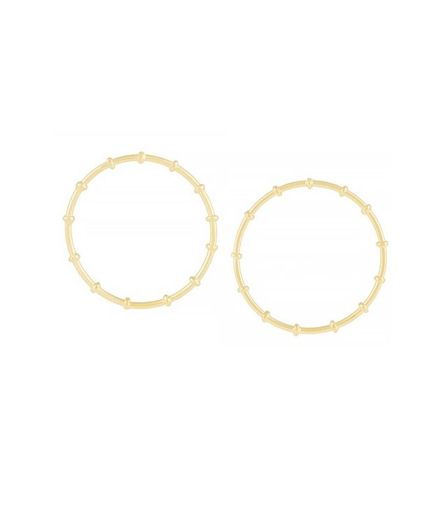 Arme de L'Amour Bamboo Gold-Plated Hoop Earrings