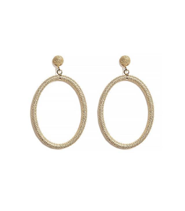 Carolina Bucci Gitane Sparkly Oval Earrings