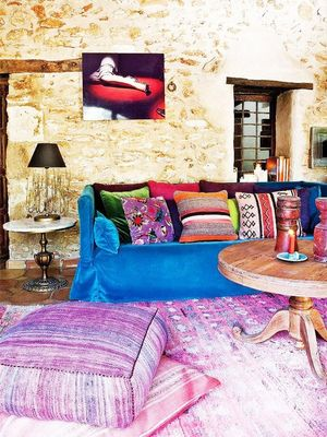 Inside a Colourful Mediterranean Farmhouse