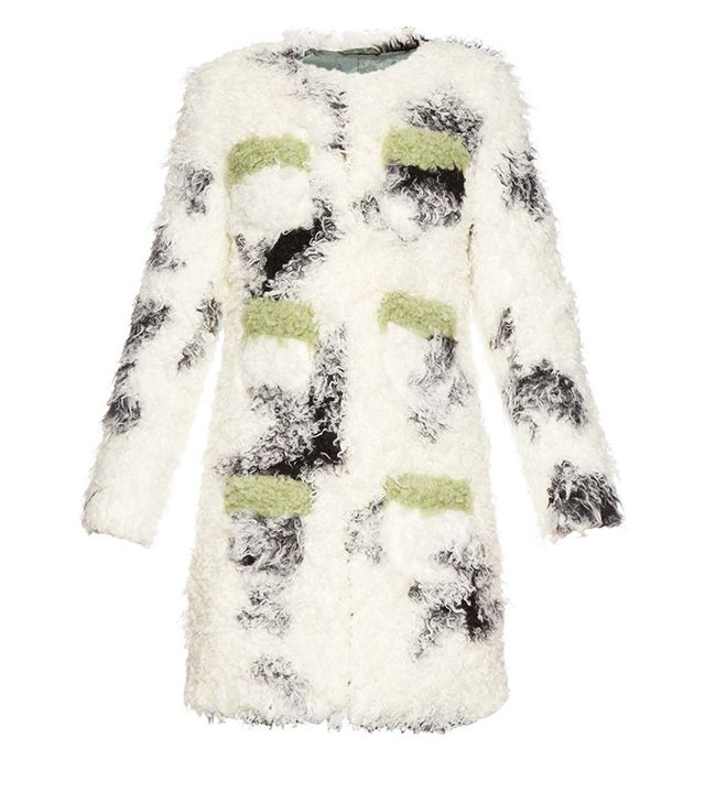 Shrimps Cheryl Spotted Faux-Shearling Coat