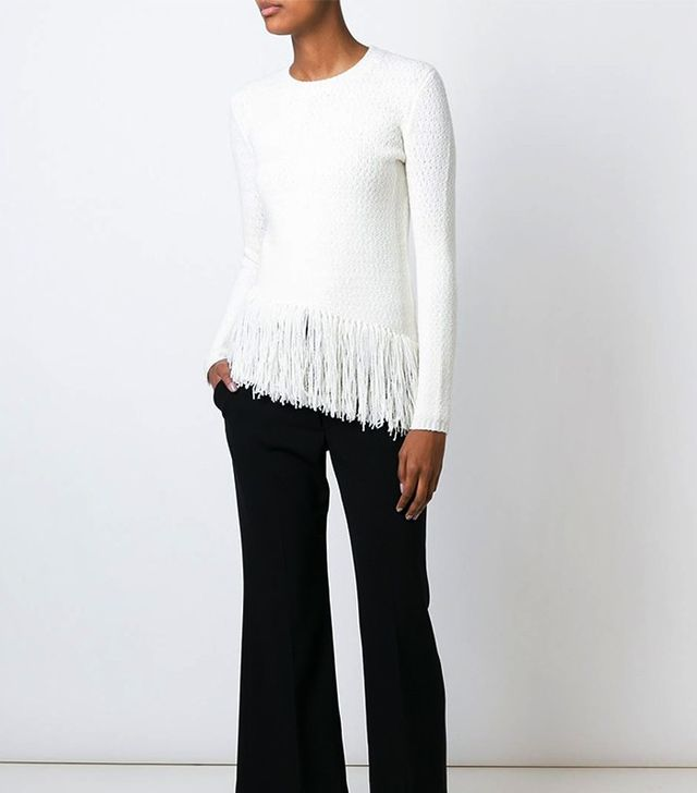 Theory Asymmetric Fringed Sweater