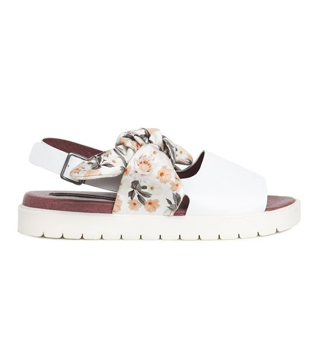 Mother of Pearl Orwell Bow Sandal