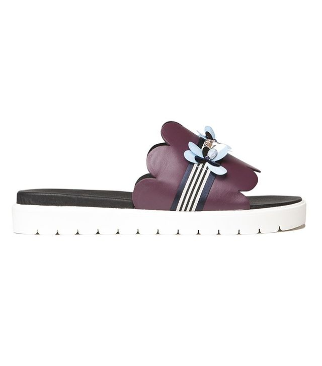 Mother of Pearl Embellished Talwin Sliders