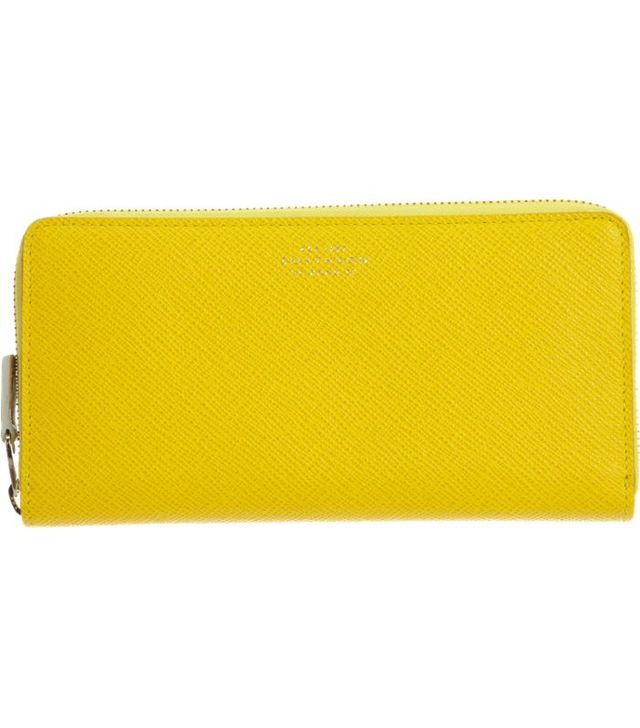 Smythson Panama Large Slim Zip Wallet