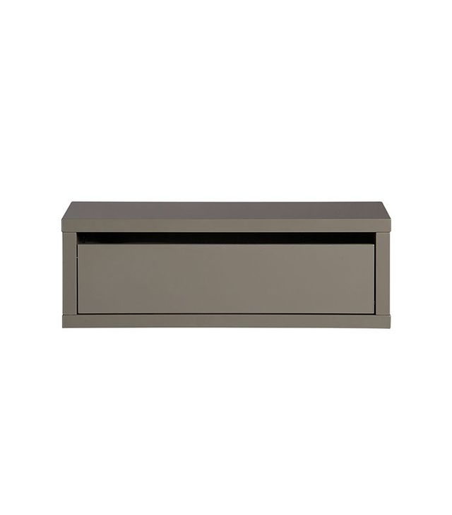 CB2 Slice Grey Wall Mounted Storage Shelf
