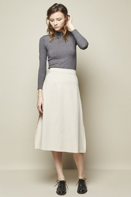 Achro Side Slit Maxi Skirt