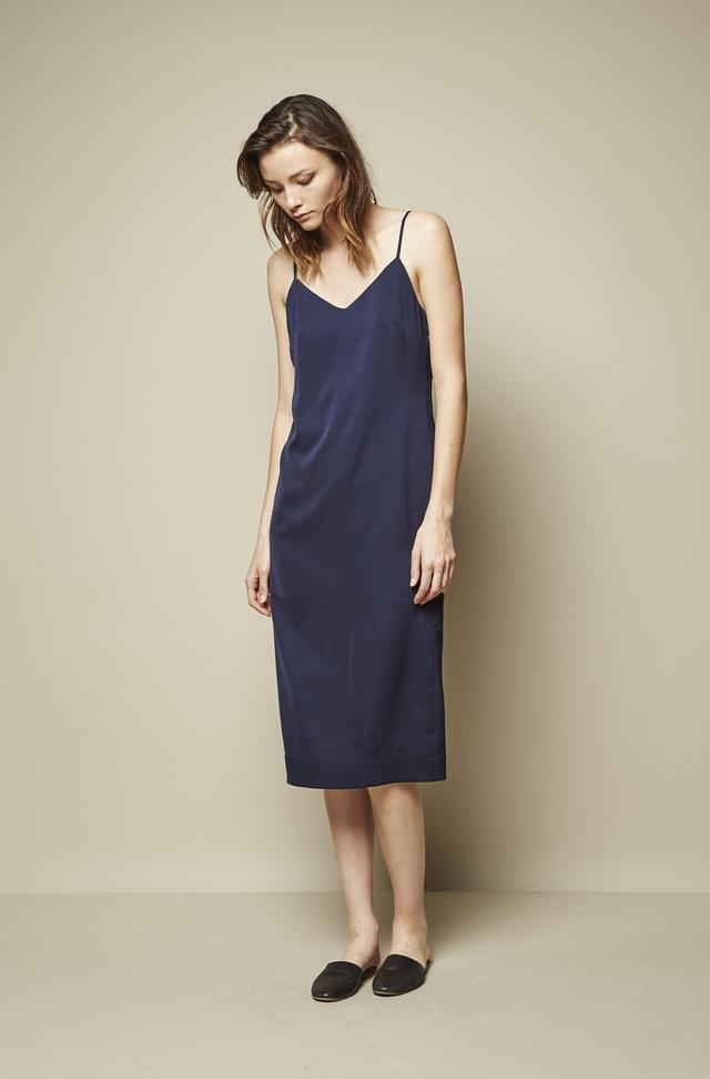 Achro Black Slit Slip Dress