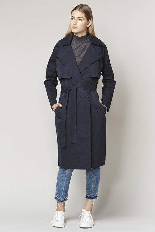 Achro Washed Twill Trench Coat