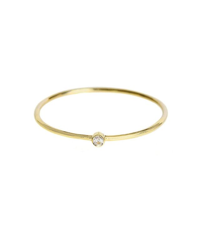 Jennifer Meyer Thin Diamond Stacking Ring