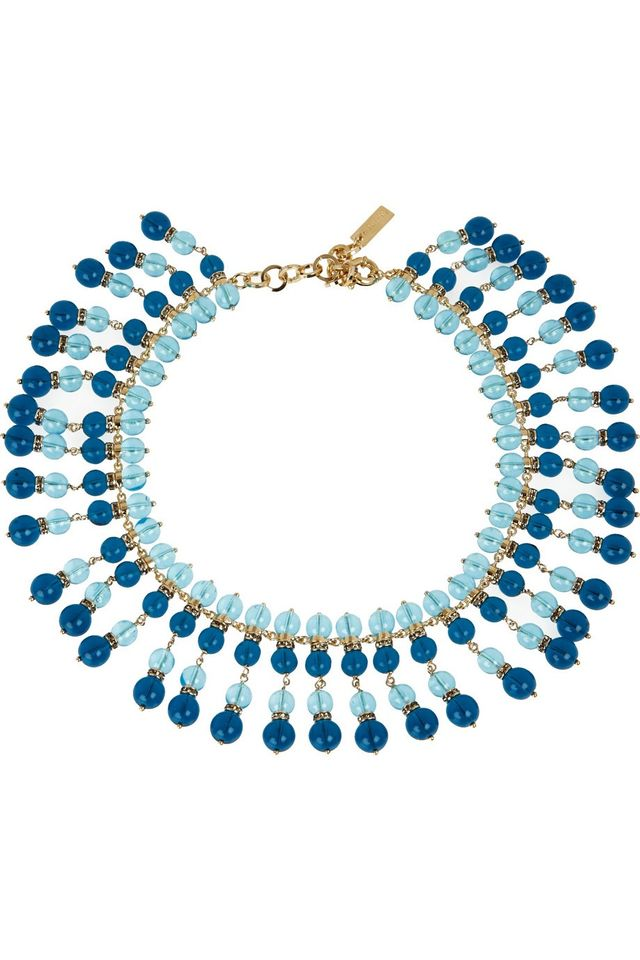 Etro Gold-Plated Bead and Swarovski Crystal Necklace