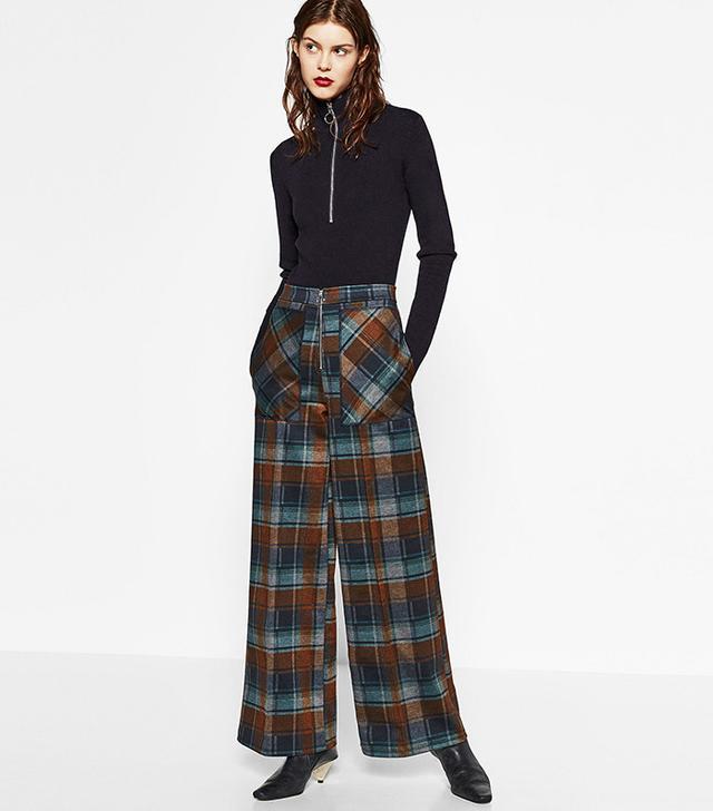Zara Check Trousers