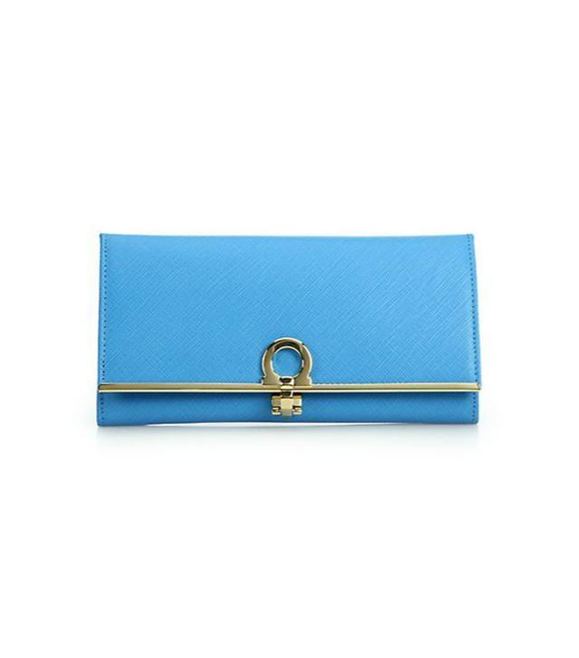 Salvatore Ferragamo Saffiano Leather Continental Wallet