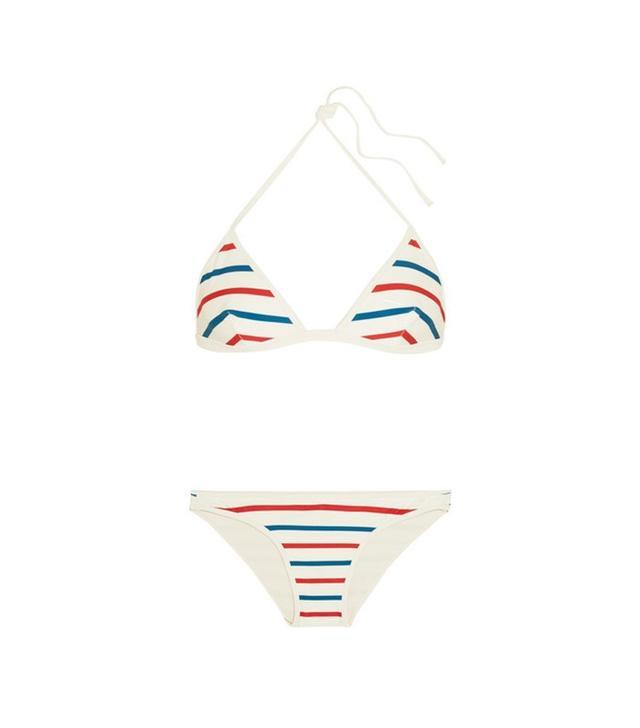 Solid and Striped The Miranda Striped Triangle Bikini
