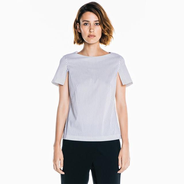 Veronika Maine Dobby Stripe Top