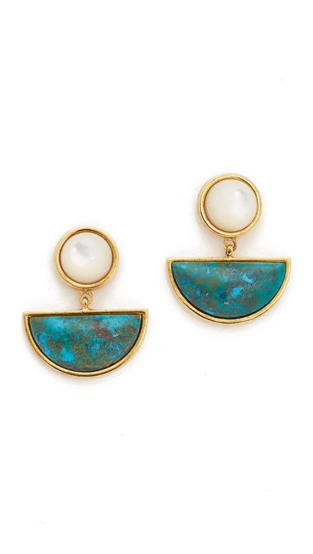 Lizzie Fortunato Geometry Surf Earrings