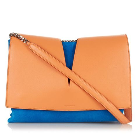 View Medium Suede and Leather Shoulder Bag