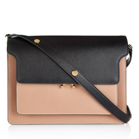 Trunk Bi-Colour Leather Shoulder Bag