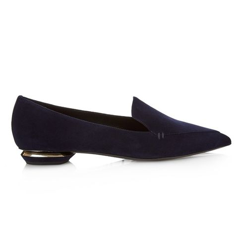 Leia Point-Toe Suede Loafers