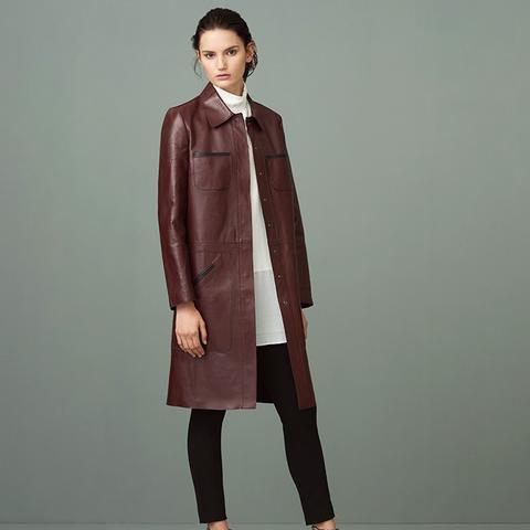 Fanshaw Leather Coat
