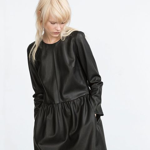 Leather Look Dress