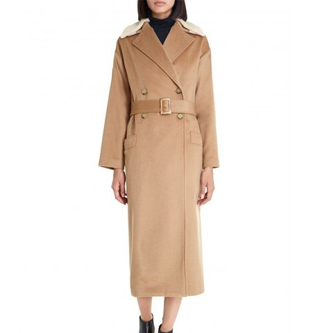 Removable Collar Trench Coat