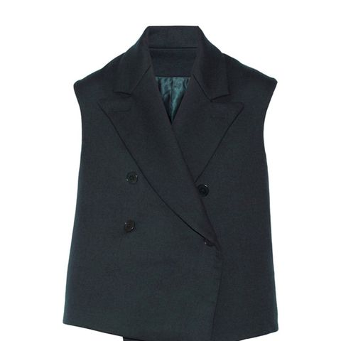 Double-Faced Cotton and Wool-Blend Twill Vest