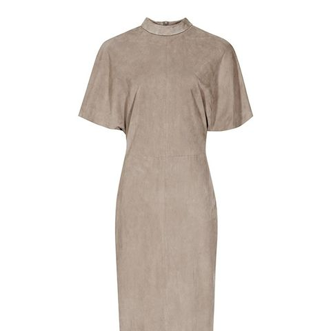 Margeaux Suede High-Neck Dress