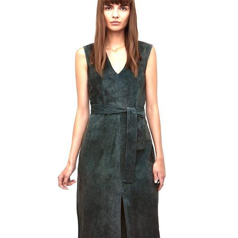 Suede Belted Dress