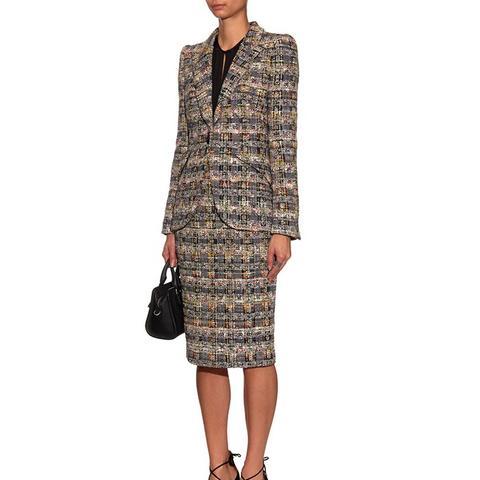 Single-Breasted Tweed Jacket