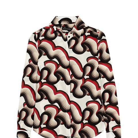 Alana Printed Silk Crepe de Chine Shirt