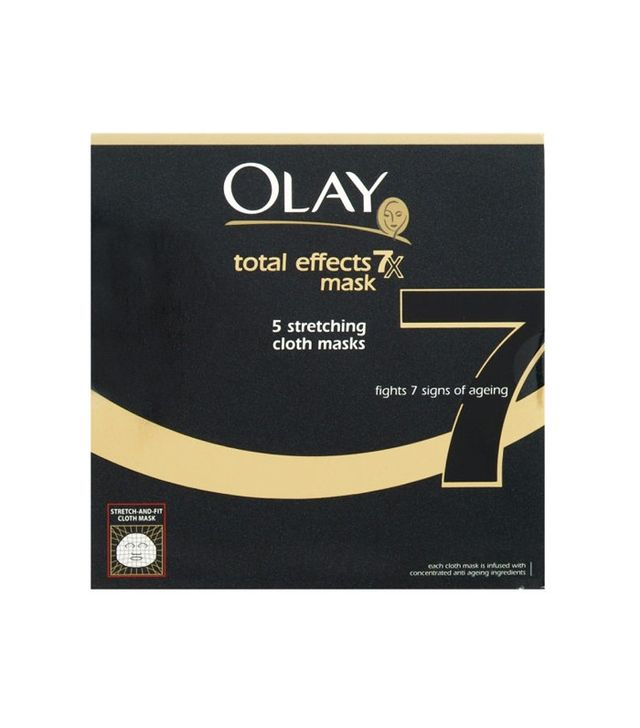 Olay Total Effects Mask 7-in-1 Anti-Ageing 5 Stretching Cloth Masks (Pack of 5)
