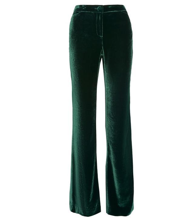 Cushnie et Ochs Velvet Wide-Leg Pants