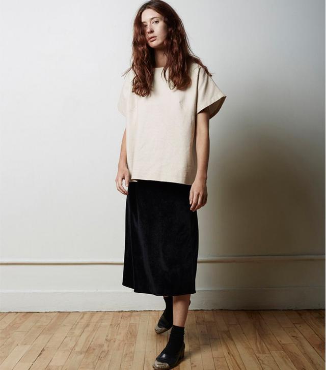 La Garçonne Velvet Slip Skirt