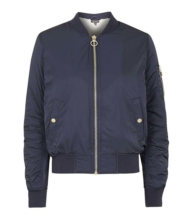 Topshop Faux Fur Lined MA1 Bomber Jacket
