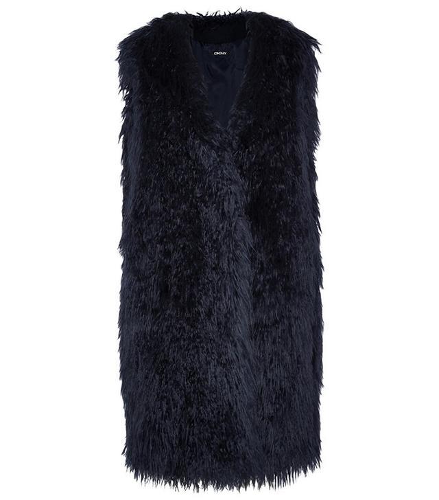 DKNY Oversized Faux Fur Gilet