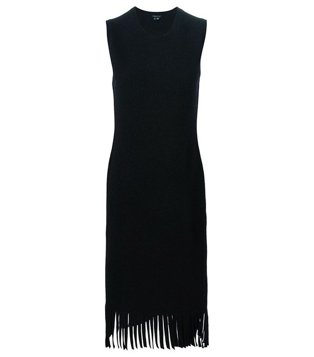 Theory Fringed Knit Dress