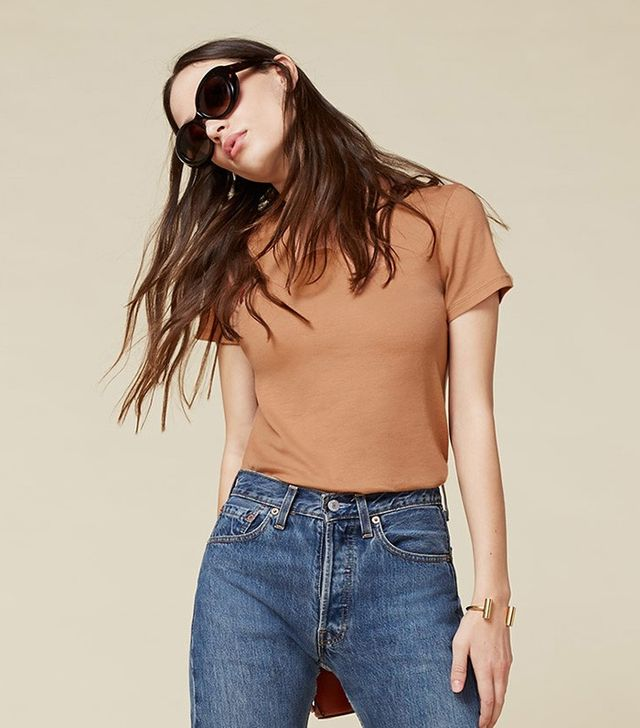 Reformation Rib Relaxed Crew Tee