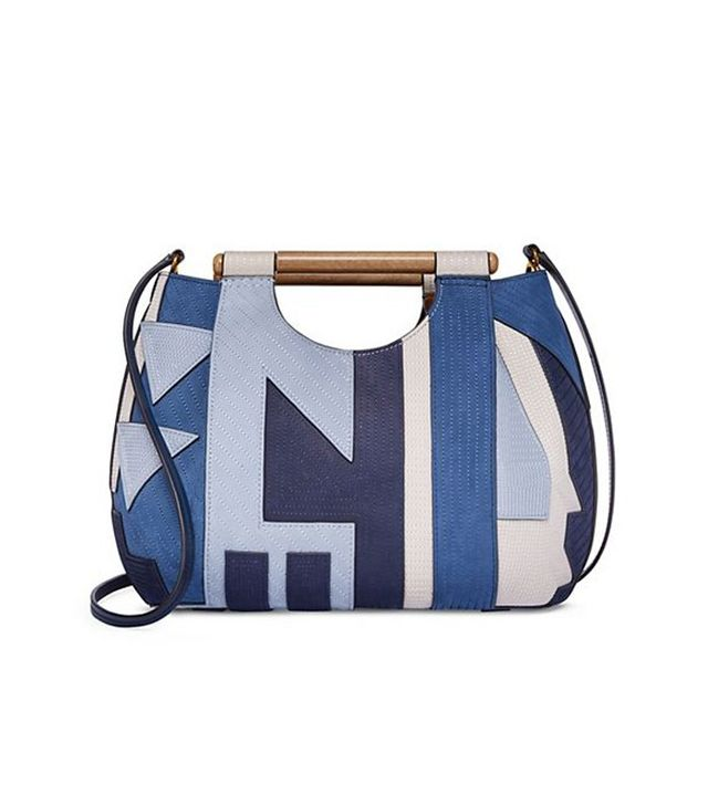 Tory Burch Dowel Patchwork Round Tote