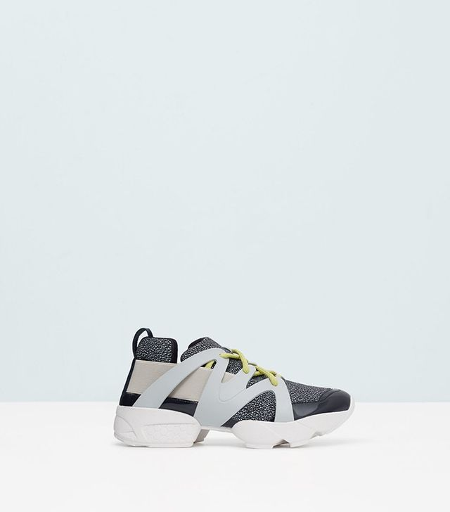 Mango Contrast Materials Sneakers