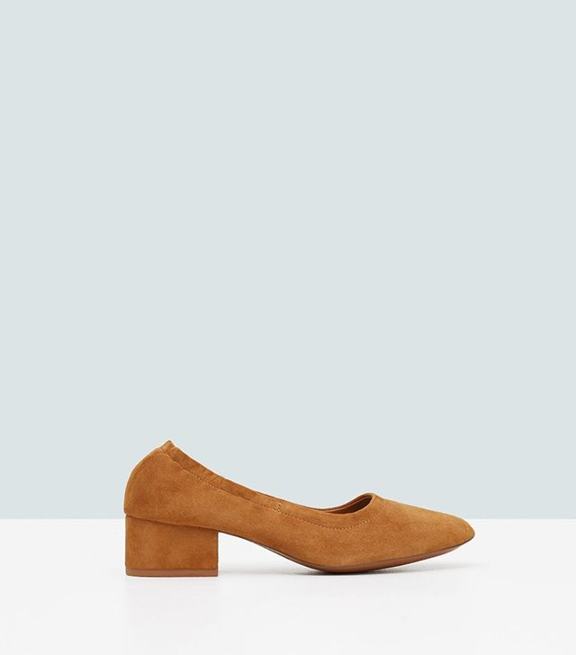 Mango Heel Suede Shoes