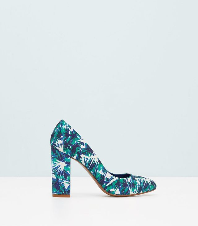 Mango Printed Pumps
