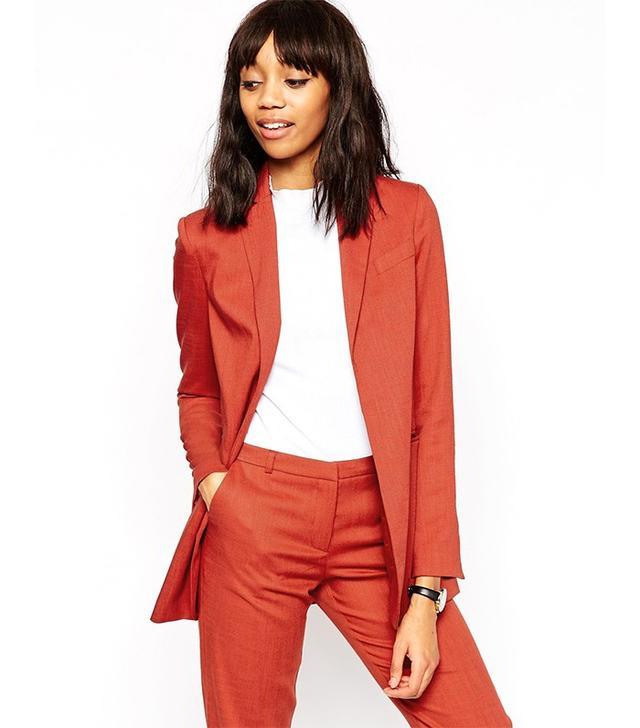 ASOS Premium Longline Suit Blazer With Belt