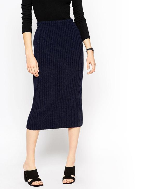 ASOS Pencil Skirt in Chunky Rib