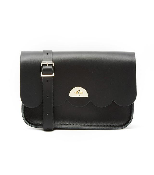 The Cambridge Satchel Company Leather Small Cloud Scallop Edge Bag