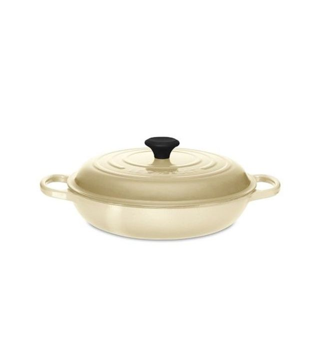Le Creuset Signature Cast-Iron Braiser, Dune